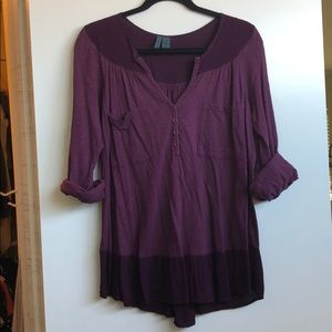 Anthropologie 3/4 blouse
